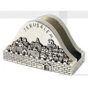Festive Napkin Holder with Jerusalem design