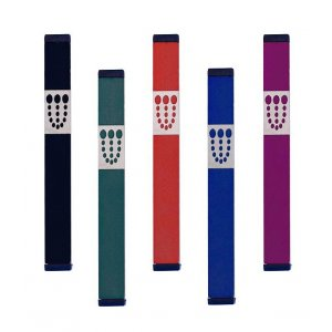 Dots Mezuzah By Agayof- Dark Colors - Small