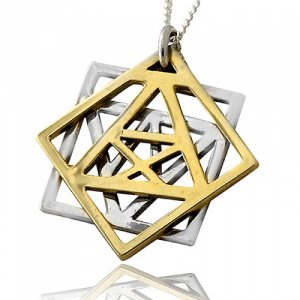 Adam and Eve Kabbalah Pendant by HaAri Jewelry