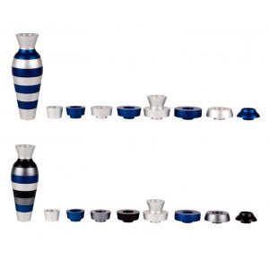 Blue Jug Travel Menorah by Agayof