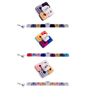 Compact Two-in-One Menorah and Dreidel, Choice of Colors - Agayof