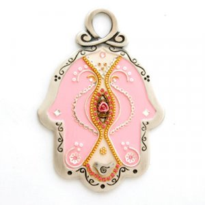Baby Wall Hamsa in Pink by Ester Shahaf