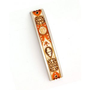 Autumn Shades Curved Mezuzah Case - Ester Shahaf