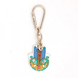 Ester Shahaf Hamsa Flower Key Ring