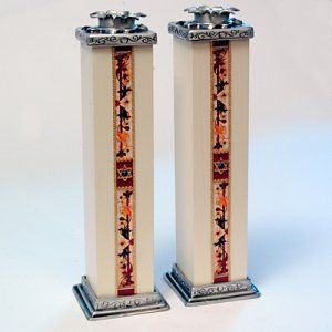 Ester Shahaf Star of David Candlesticks