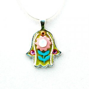 Adorable Flower Hamsa Necklace - Shahaf