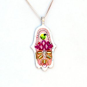 Colorful Hamsa Necklace by Ester Shahaf
