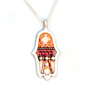 Ester Shahaf Blessing Hamsa Necklace