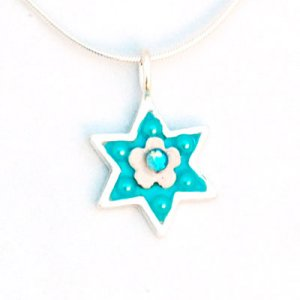 Turquoise Star of David Necklace - Ester Shahaf