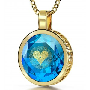 Gold Plate Nano I Love You Pendant