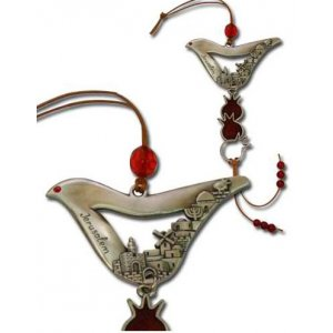 Dove Shaped Jerusalem Wall Hanging