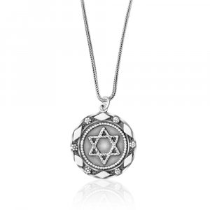 Star of David Pendant in Silver by Golan