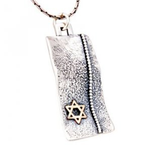 Hammered Disc Star of David Pendant by Golan Jewelry