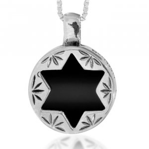 Onyx Star of David Pendant by Ha'Ari
