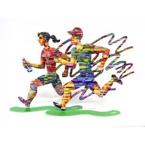 Joggers Free Standing Double Sided Sculpture Set of Runners - David Gerstein