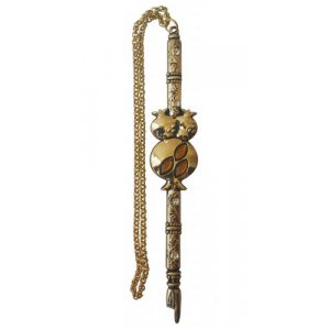 Shema Design Torah Pointer with Red Stones