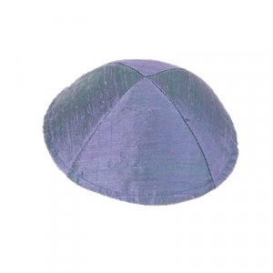 Basic Raw Silk Kippah, Blue-Violet - Yair Emanuel