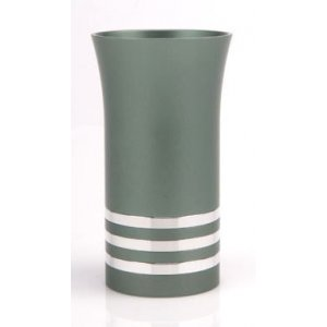 Green-Silver Kiddush Cup by Agayof