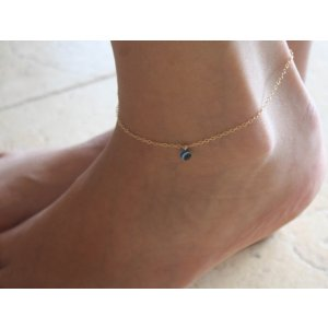 Gold-filled Anklet with Bead that Wards off the Evil Eye by Gal Cohen