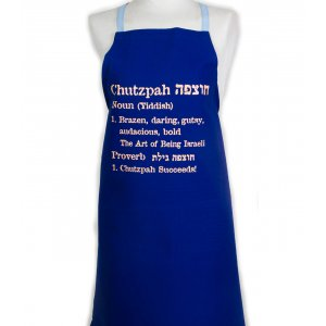 Kitchen Apron with Chutzpah Definition - Barbara Shaw