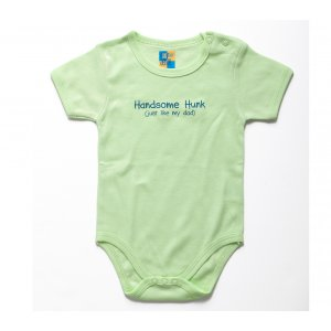 Short Sleeve Baby Onesie Handsome Hunk Like Dad - Barbara Shaw