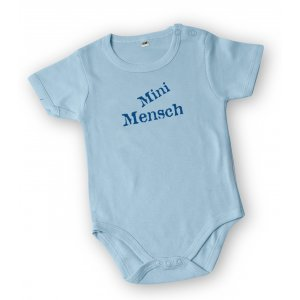 Short Sleeve Baby Onesie Mini Mensch - Barbara Shaw