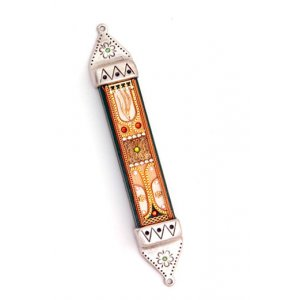 Pewter Mzuzah Case in Autumn Tones - Shahaf