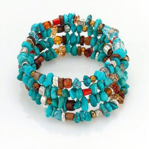 Edita Bracelet/Choker in Indian blues