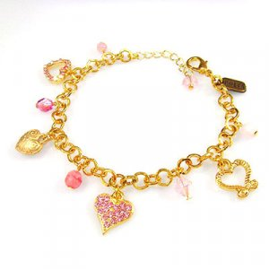 Charm Bracelet with Hearts by Edita