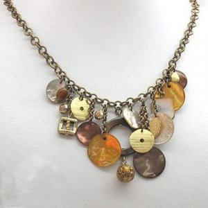 Autumn Harvest Moon Necklace - Edita