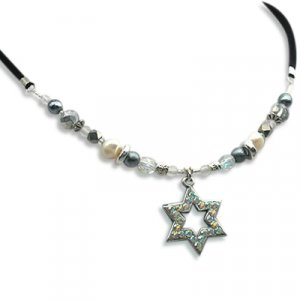Pearl Star of David Necklace - Edita