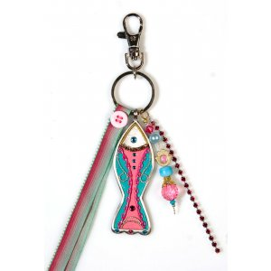 Keychain by Ester Shahaf - Pink Fish Design