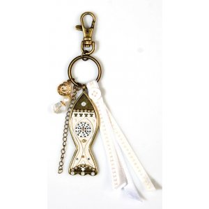Oriental Fish Design Key Ring - Shahaf