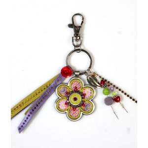 Colorful Flower Key Ring by Shahaf