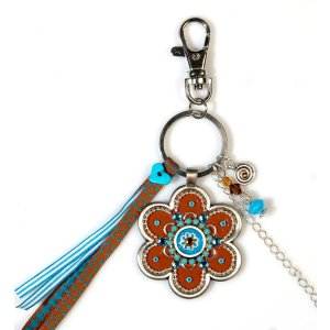 Flower Keychain in Red by Shahaf