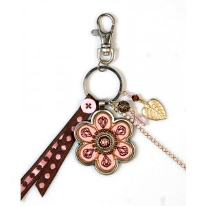 Flower Key Ring in Pink by Ester Shahaf