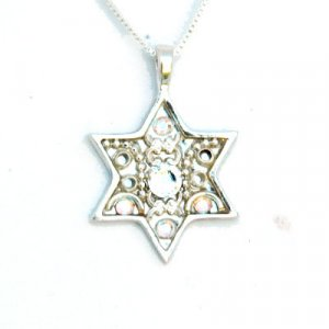 Ester Shahaf Silver Magen David Necklace