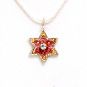 Shahaf Pink Star of David Pendant