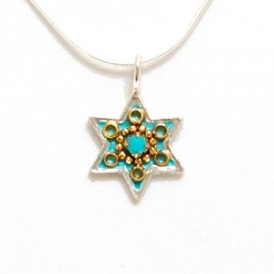 Turquoise Magen David Necklace - Ester Shahaf