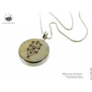 Jerusalem Stone Silver Kabbalah Necklace by Moreno