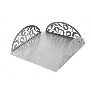 Flat Square Matzah Holder, Pomegranates Design - Dorit Judaica