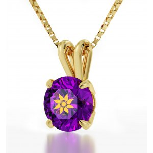 Colorful Swarovski Woman of Valor Necklace in Gold Plate Frame - Nano Gold