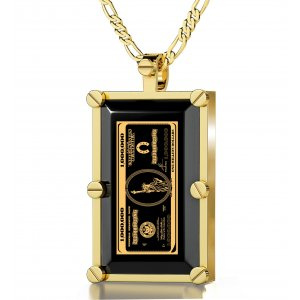 Framed Million Dollars Pendant for Men