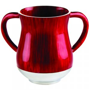 Aluminum Netilat Yadayim Wash Cup in Ravishing Red