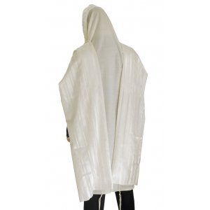 Talitania Wool Tallit - White Stripes