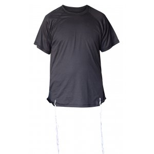 Dry-Fit Tzitzit T-shirt With Kosher Tzitzis in Black by Talitnia
