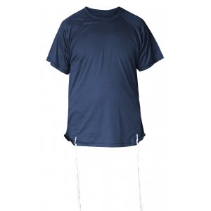 Dry-Fit Tzitzit T-shirt With Kosher Tzitzis in Dark Blue by Talitnia