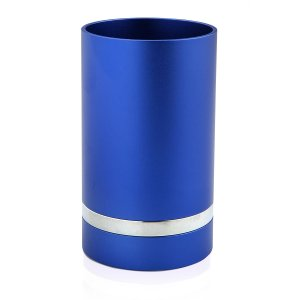 Blue Anodized Aluminum Kiddush Cup by Benny Dabbah
