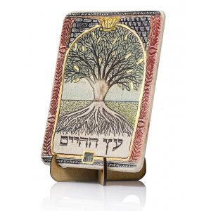 Handcrafted Ceramic 24K Gold Decorated Plaque, Tree of Life - Art in Clay