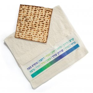 Dish Towel with Seder Words - Barbara Shaw